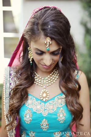 Indian wedding bridal portrait traditional in Columbus, Ohio Indian Wedding by Amanda Julca