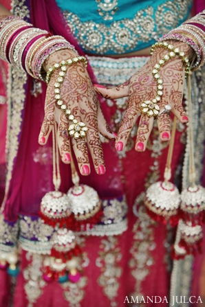 Indian wedding bridal portrait traditional jewelry in Columbus, Ohio Indian Wedding by Amanda Julca