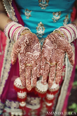 Indian wedding bridal portrait traditional henna in Columbus, Ohio Indian Wedding by Amanda Julca