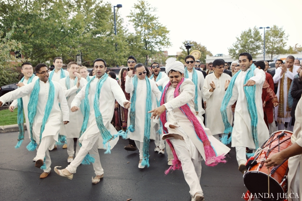 Indian wedding traditional groom baraat in Columbus, Ohio Indian Wedding by Amanda Julca