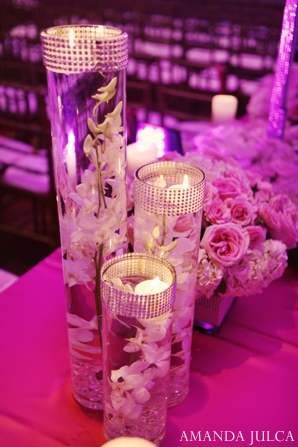 Indian wedding reception floral lighting in Columbus, Ohio Indian Wedding by Amanda Julca