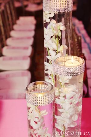 Indian wedding reception floral lighting in Columbus, Ohio Indian Wedding by Amanda Julca