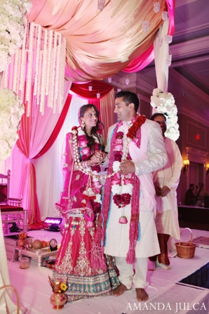 Featured Indian Weddings,hot pink,ceremony,indian wedding ceremony,indian wedding customs,ceremonial customs,traditional wedding rituals,traditional wedding customs,AMANDA JULCA