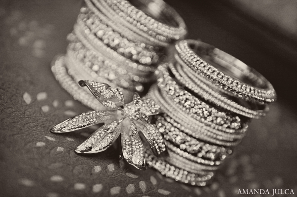 Indian wedding bridal reception jewelry in Columbus, Ohio Indian Wedding by Amanda Julca