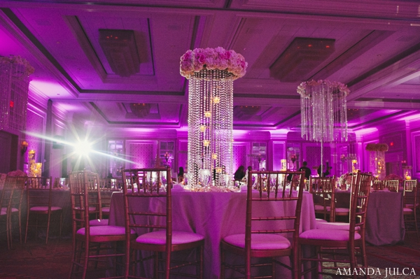 Indian wedding reception decor lighting inspiration in Columbus, Ohio Indian Wedding by Amanda Julca
