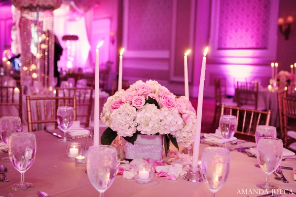 Indian wedding reception decor lighting inspiration floral in Columbus, Ohio Indian Wedding by Amanda Julca