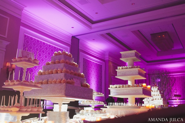 purple,cakes and treats,Lighting,Planning & Design,reception desserts,wedding reception lighting,indian wedding dessert ideas,indian wedding desserts,AMANDA JULCA
