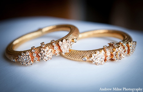 Indian bridal fashion wedding jewelry in Coral Springs, Florida Indian Wedding by Andrew Milne Photography