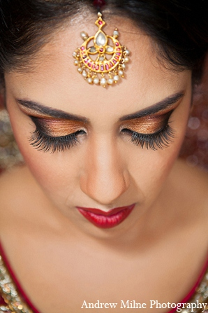 Indian bridal makeup wedding photography in Coral Springs, Florida Indian Wedding by Andrew Milne Photography