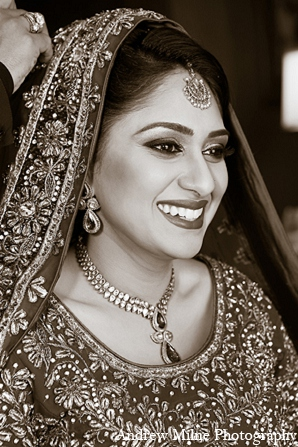 Indian bride fashion makeup jewelry in Coral Springs, Florida Indian Wedding by Andrew Milne Photography