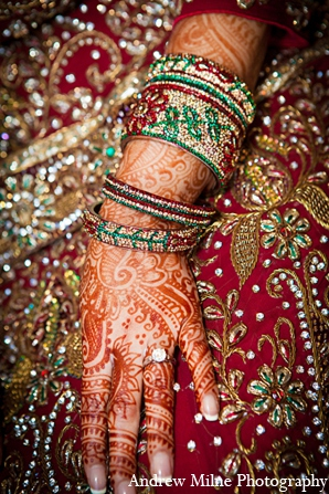Indian bride fashion mehndi jewelry in Coral Springs, Florida Indian Wedding by Andrew Milne Photography