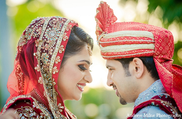 Indian bride groom wedding portraits in Coral Springs, Florida Indian Wedding by Andrew Milne Photography