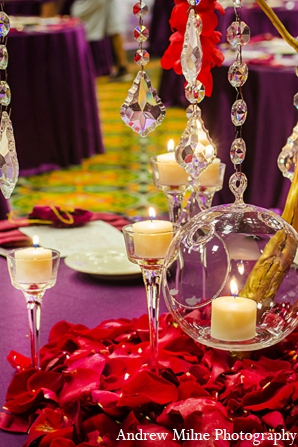 Indian decor floral reception wedding in Coral Springs, Florida Indian Wedding by Andrew Milne Photography