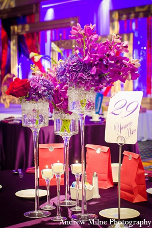 Indian floral decor reception wedding in Coral Springs, Florida Indian Wedding by Andrew Milne Photography