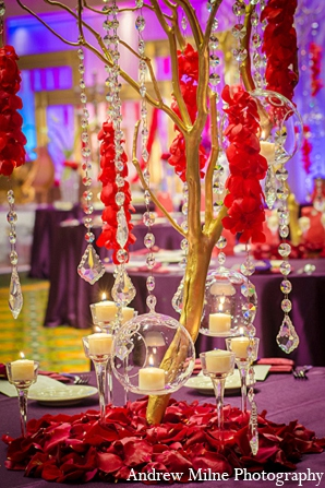 Indian reception decor floral wedding in Coral Springs, Florida Indian Wedding by Andrew Milne Photography