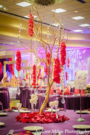 Indian reception decor wedding floral in Coral Springs, Florida Indian Wedding by Andrew Milne Photography