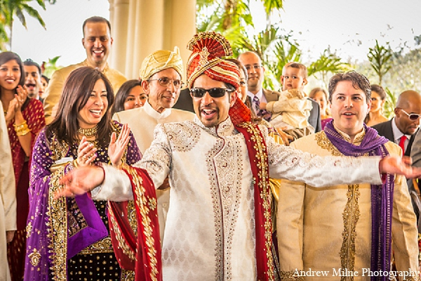 Indian wedding baraat groom photography in Coral Springs, Florida Indian Wedding by Andrew Milne Photography