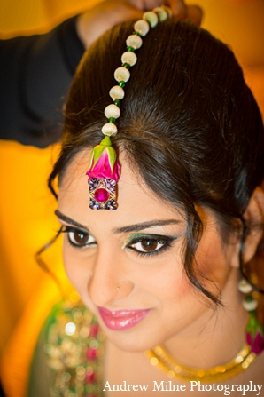 Indian wedding bridal accesories makeup in Coral Springs, Florida Indian Wedding by Andrew Milne Photography