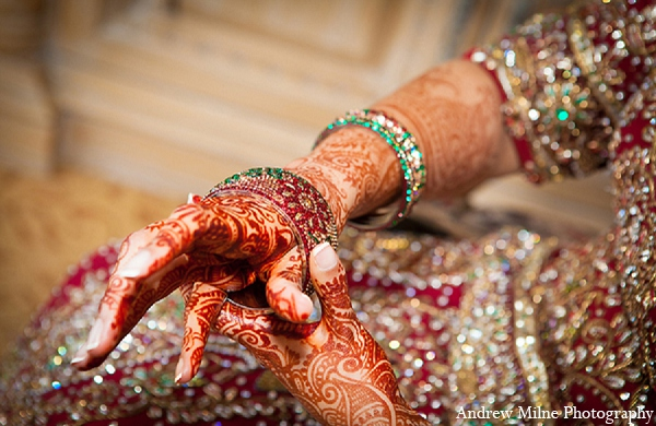 Indian wedding bridal jewelry mehndi in Coral Springs, Florida Indian Wedding by Andrew Milne Photography