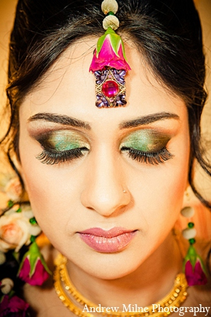 Indian wedding bridal makeup jewelry in Coral Springs, Florida Indian Wedding by Andrew Milne Photography