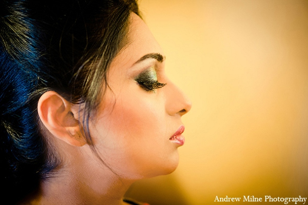 Indian wedding bridal makeup photography in Coral Springs, Florida Indian Wedding by Andrew Milne Photography