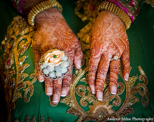Indian wedding bridal mehndi accessories in Coral Springs, Florida Indian Wedding by Andrew Milne Photography