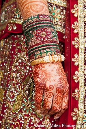 Indian wedding bridal mehndi attire in Coral Springs, Florida Indian Wedding by Andrew Milne Photography