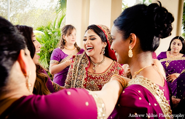 Indian wedding bride bridal party photography in Coral Springs, Florida Indian Wedding by Andrew Milne Photography