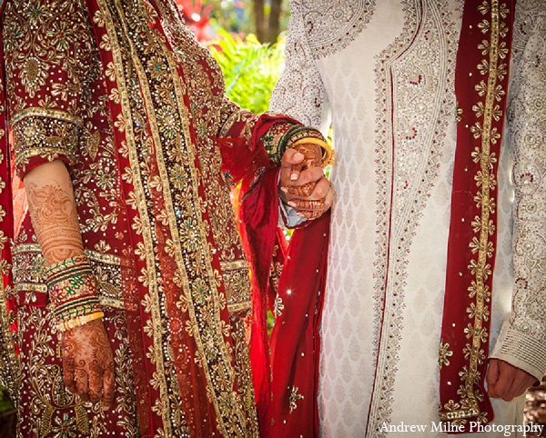 Indian wedding bride groom fashion in Coral Springs, Florida Indian Wedding by Andrew Milne Photography