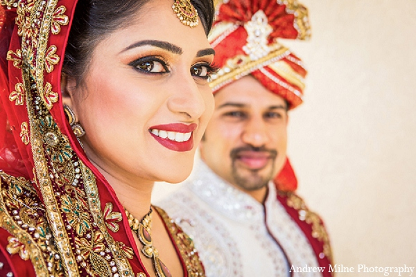 Indian wedding bride groom portrait in Coral Springs, Florida Indian Wedding by Andrew Milne Photography
