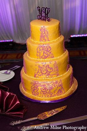 Indian wedding cake reception photography in Coral Springs, Florida Indian Wedding by Andrew Milne Photography