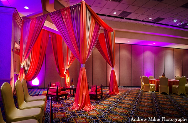 Indian wedding decor sangeet mehndi in Coral Springs, Florida Indian Wedding by Andrew Milne Photography