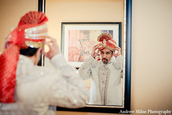 Indian wedding groom attire photography in Coral Springs, Florida Indian Wedding by Andrew Milne Photography