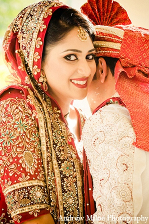 Indian wedding groom bride portrait photography in Coral Springs, Florida Indian Wedding by Andrew Milne Photography