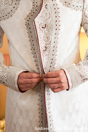 Indian wedding groom fashion sherwani in Coral Springs, Florida Indian Wedding by Andrew Milne Photography