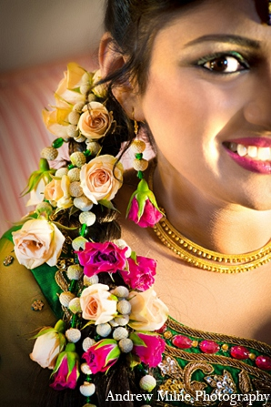 Indian wedding hair makeup accessories in Coral Springs, Florida Indian Wedding by Andrew Milne Photography
