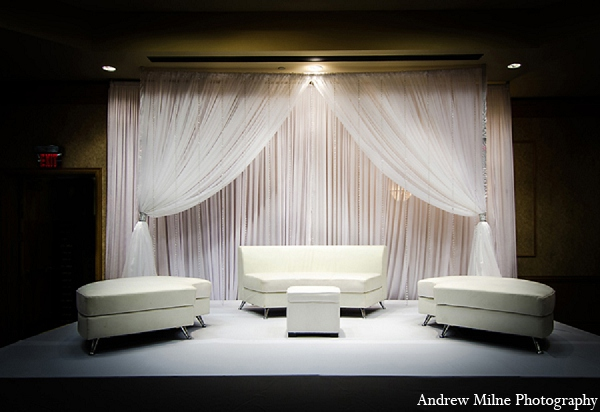 Indian wedding mandap decor white in Coral Springs, Florida Indian Wedding by Andrew Milne Photography