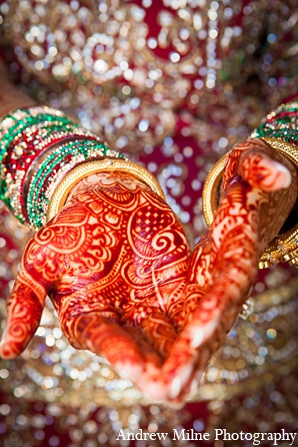 Indian wedding mehndi bride fashion in Coral Springs, Florida Indian Wedding by Andrew Milne Photography