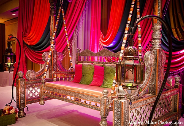 Indian Wedding Mehndi Sangeet Decor In Coral Springs