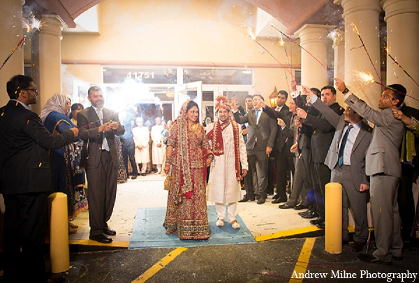 Indian wedding reception bride groom photography in Coral Springs, Florida Indian Wedding by Andrew Milne Photography