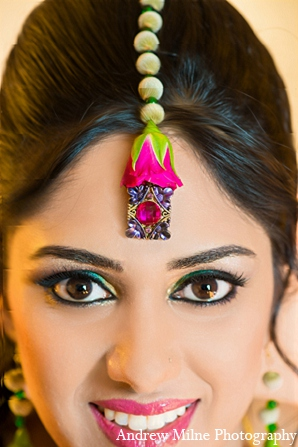 Indian wedding sangeet makeup mehndi in Coral Springs, Florida Indian Wedding by Andrew Milne Photography