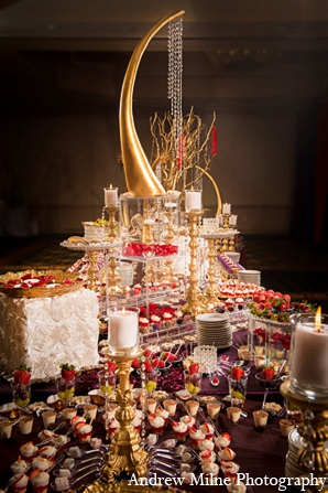 Indian wedding treats decor recepion photography in Coral Springs, Florida Indian Wedding by Andrew Milne Photography