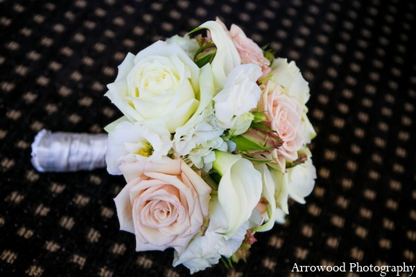 Indian bridal bouquet in San Francisco, California Indian Wedding by Arrowood Photography