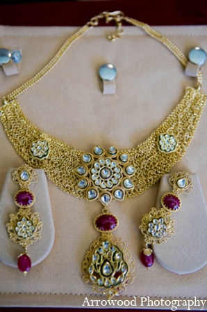 Indian bridal jewelry in San Francisco, California Indian Wedding by Arrowood Photography
