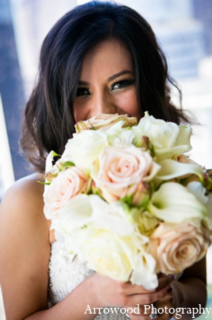 Indian wedding bridal bouquet in San Francisco, California Indian Wedding by Arrowood Photography