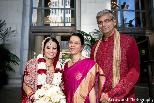 Indian wedding bride family in San Francisco, California Indian Wedding by Arrowood Photography