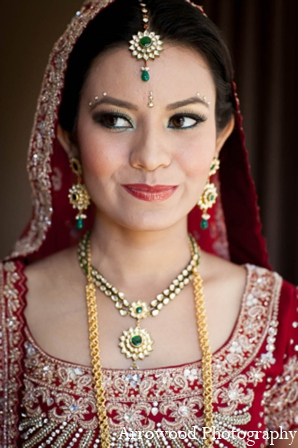 Indian wedding bride in San Francisco, California Indian Wedding by Arrowood Photography