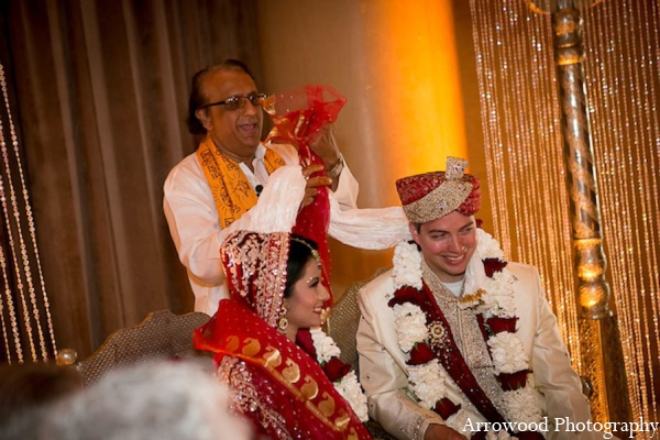 Indian wedding ceremony bride groom in San Francisco, California Indian Wedding by Arrowood Photography