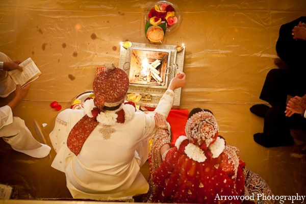 Indian wedding fire ceremony in San Francisco, California Indian Wedding by Arrowood Photography