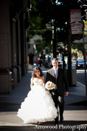 Indian wedding portrait in San Francisco, California Indian Wedding by Arrowood Photography
